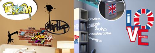 Stickers muraux des d co originales avec des autocollants des graffitis po - Tag pour chambre ado ...