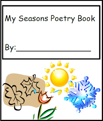Free poetry writing journal about seasons - Raki's Rad Resources.