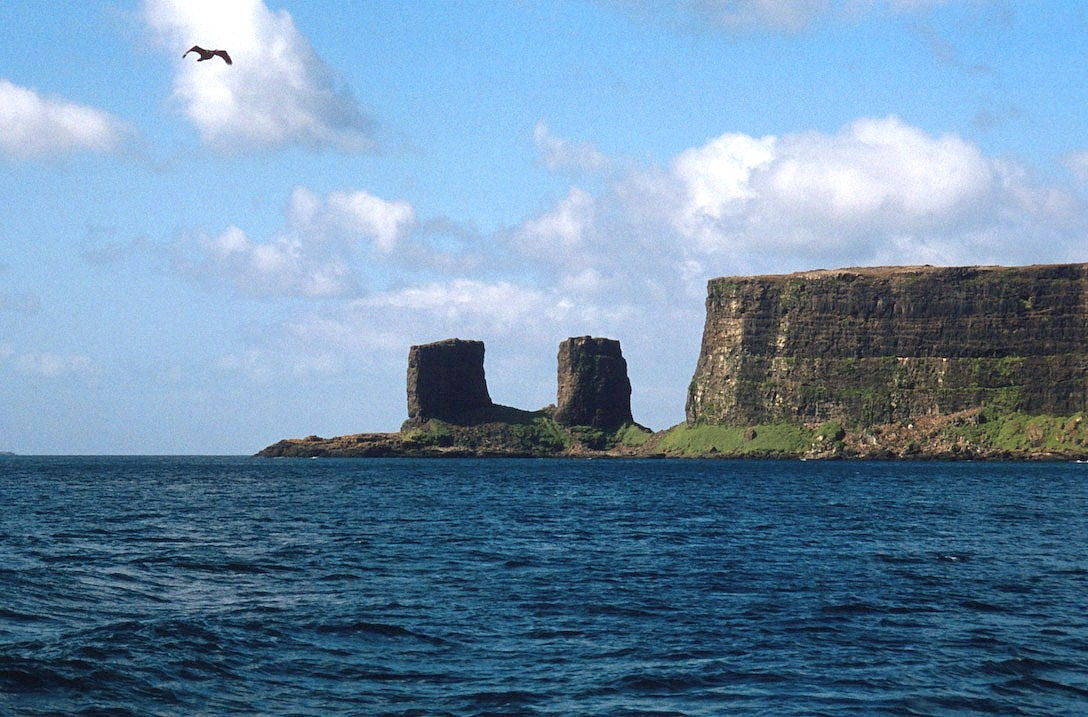 In the extreme north, the Arche of Kerguelen , the best known feature ...