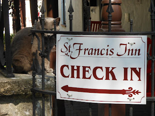 """A Warm """"Welcome"""" from Zeke 3 BillandMaryKuyper St. Francis Inn St. Augustine Bed and Breakfast"""