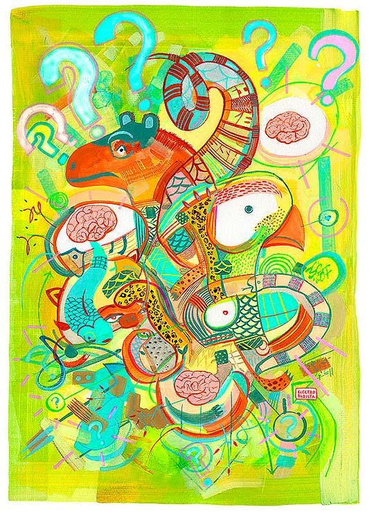 Ilustración de Electrobudista