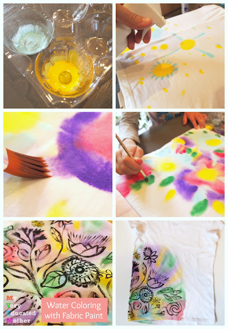 It's easier than you think to recreate a watercolor effect on fabric and NOT use tie dye! DecoArts So Soft Fabric Paint is less mess, much cheaper, and offers more color options.