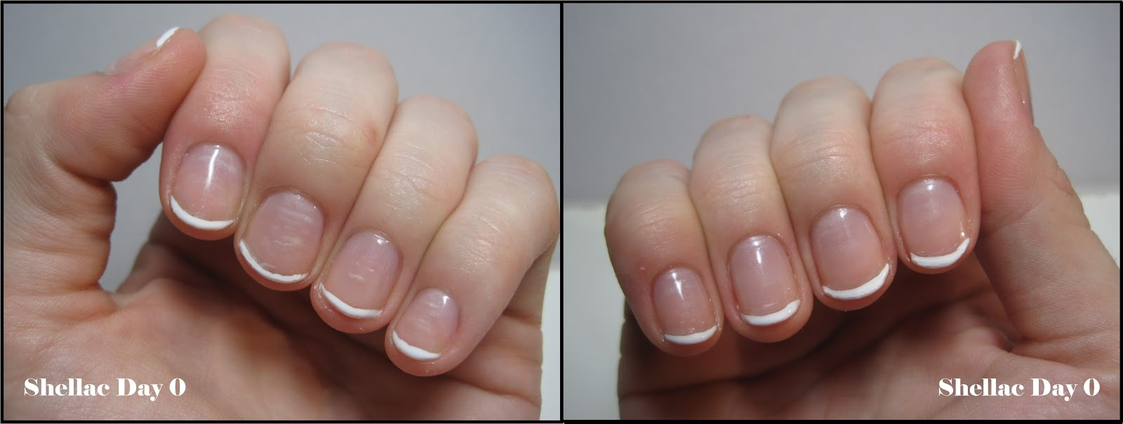 These were my nails on Wednesday, day zero of my Shellac manicure.