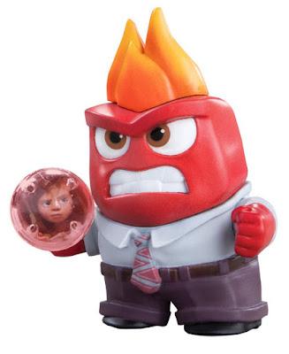 JUGUETES - DISNEY Inside Out   Del reves Ira  Figura Muñeco + Esfera de Memoria   Anger Producto Oficial Película Pixar 2015   Bizak - Tomy   A partir de 4 años Comprar en Amazon