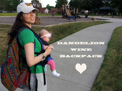 dandelion wine backpack as diaper bag - Dandelion Wine Backpack
