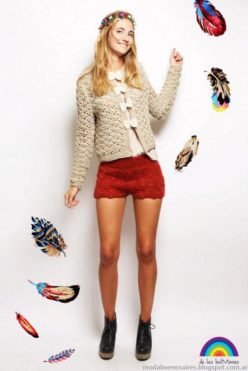 Sacos tejidos moda mujer invierno 2013