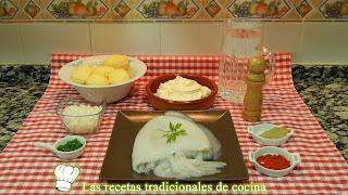Ensalada de patatas y sepia