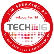 I'm Speaking at UKOUG