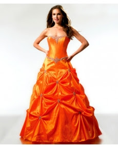 strapless-orange-prom-dresses