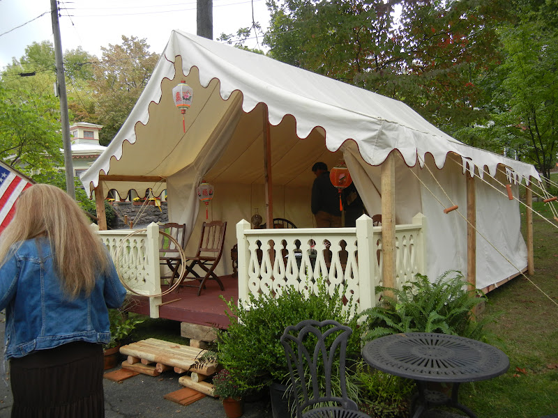 This is a replica of a C& Meeting Tent. The front portion was used as a parlor . & Quilts Gravestones and Elusive Ancestors: Charming Victorian ...