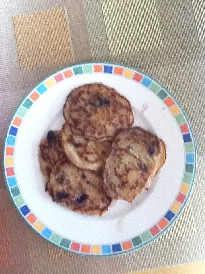 Blueberry Peach Multigrain Pancakes for the Whole Family