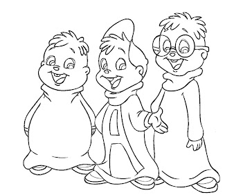 #5 Alvin and the Chipmunks Coloring Page