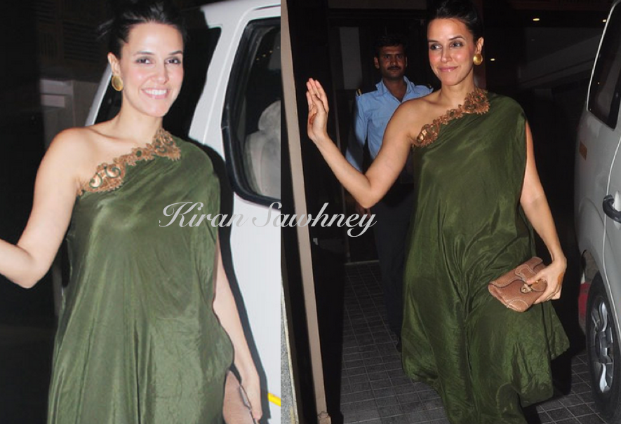 Neha Dhupia at Soha Ali Khan's Mehendi Ceremony in Nupur Kanoi
