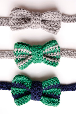 free crochet pattern bow tie