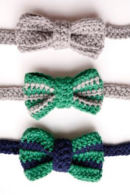 free crochet pattern bow tie