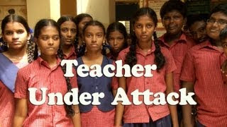 Saibab temple in chennai & saibab school are fighting,Lady Teacher attacked by Sai devotee