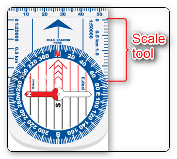 Compass scale tool