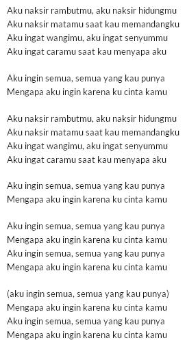 lirik D'Masive – Naksir