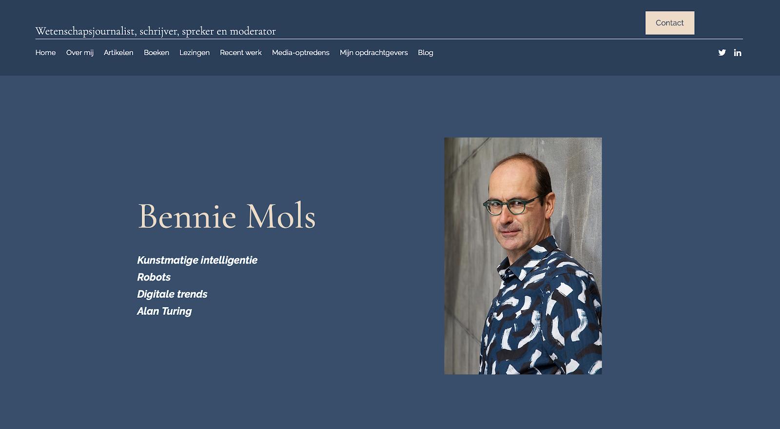 Mijn nieuwe website: benniemols.com