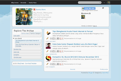 BlogTweet | Download Template Blog Keren Gratis