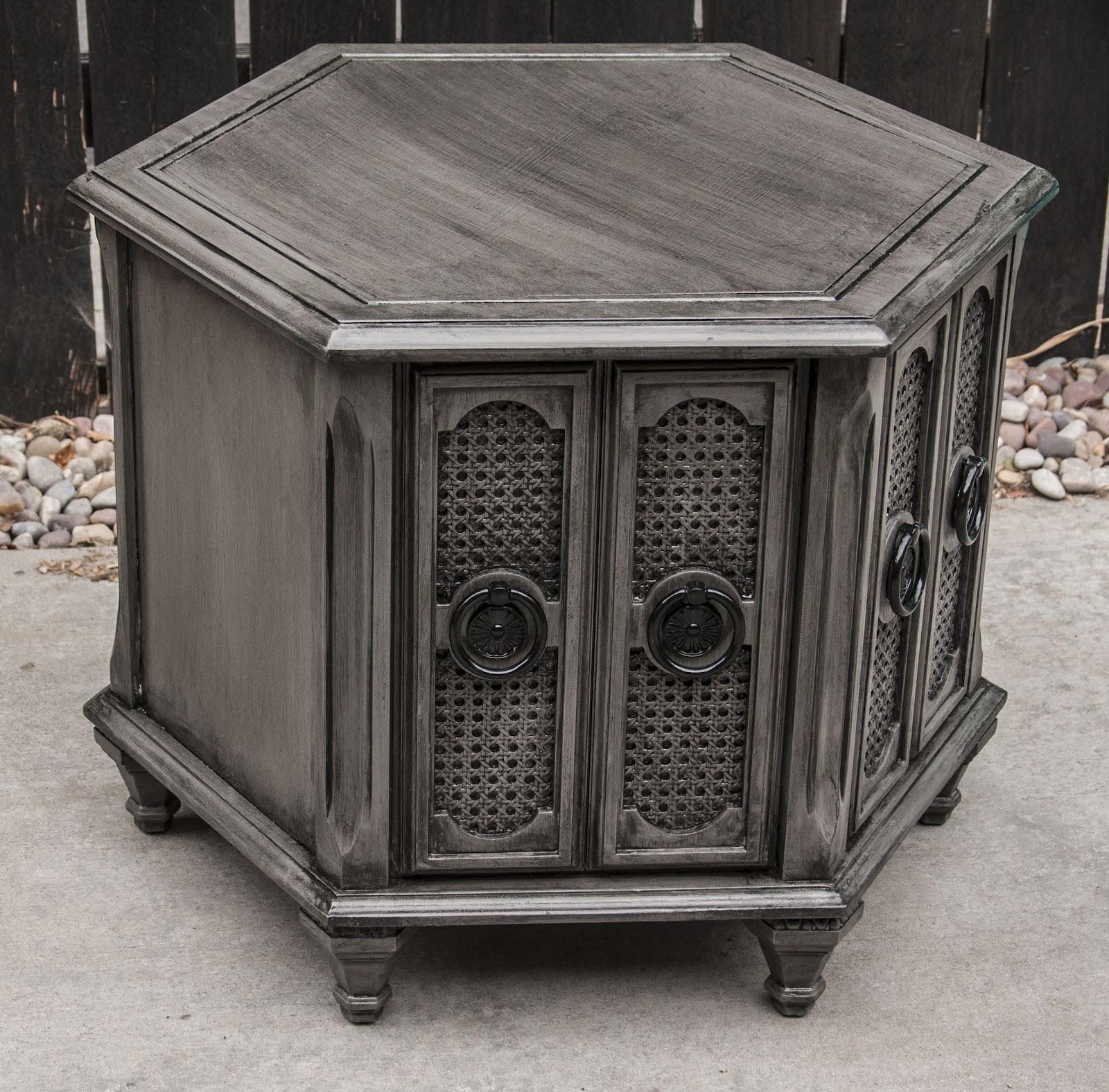 Modernly shabby chic furniture dark gray and black side - Gray shabby chic furniture ...
