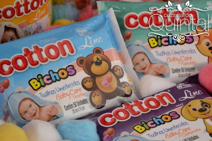 Toalhas Umedecidas Cotton Line Coleção Bichos