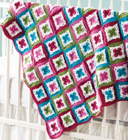 Irish Blossoms Baby Blanket - Free Pattern