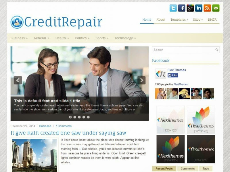CreditRepair - Free Wordpress Theme