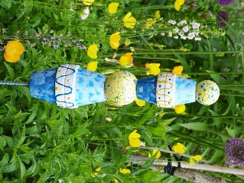 Kreatives aus papier gartenstecker kurs - Gartendekoration basteln ...