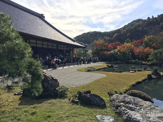 kyoto arashiyama tenryuuji tenryuji tenryu temple zen koi garden fall autumn red leaves momiji