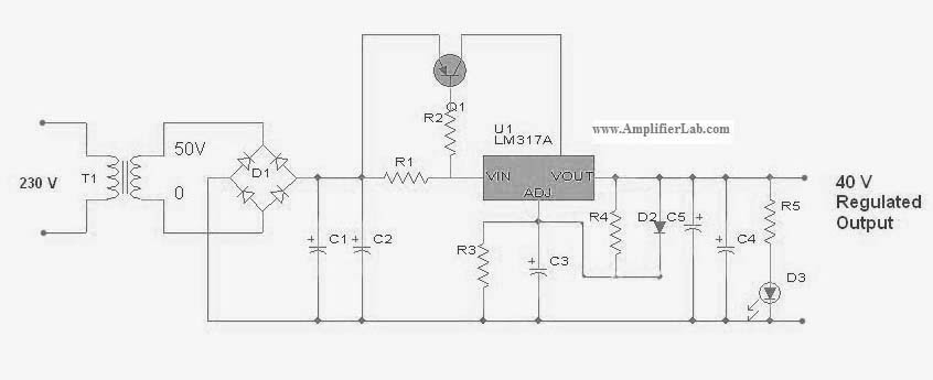 variable power supply using lm317 pdf