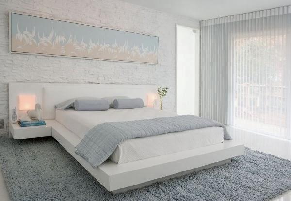 desain kamar tidur warna putih desain denah rumah