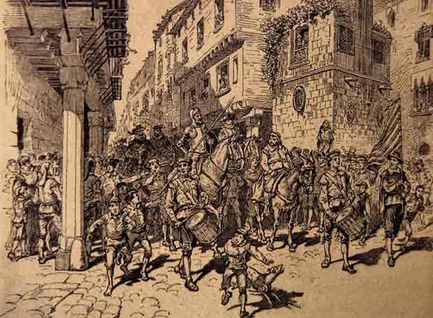 FELIZ DÍA DE SANT JORDI!!!!!!!!!!! - Página 3 Dibujo_entrada_don_Quijote_Barcelona