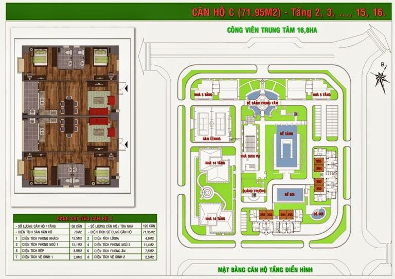 Thiết kế căn hộ C tòa Gh5,Gh6  chung cư Green House