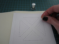 homemade stitched cards pattern