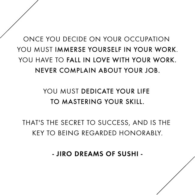 Jiro Dreams of Sushi / Design by Jennifer Chong