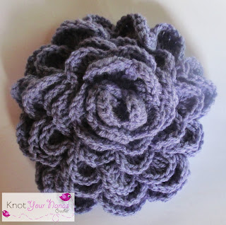 Medium Crochet Flower Pattern : Knot Your Nanas Crochet: Simple Crochet Roses (3 sizes)