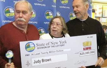 Lottery Winner Judy Brown of Watertown