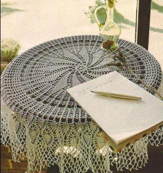 "Mantel Redondo ""Floralia"" a Crochet"
