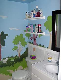 Art Bathroom Wall Murals