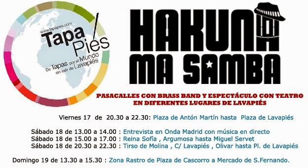 Batucada , Batucada Madrid , Pasacalles , Samba batucada , percusion afrobrasileña , Animacion para bodas,tapapiés , lavapies