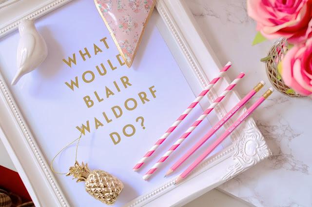what would blair waldorf do, blair waldorf, gossip girl, homeware, cute homeware, lily rose co. interior design, pinterest