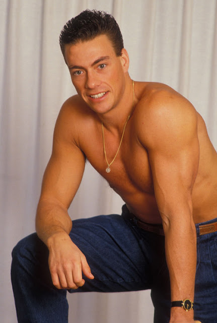strong man handsome muscular man jean claude van damme. Black Bedroom Furniture Sets. Home Design Ideas