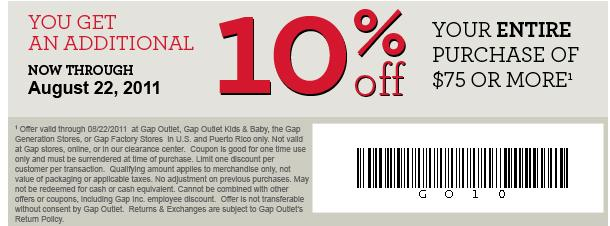 Cardmember offers are subject to credit approval and Gap Inc. credit card must be used as pay type: 20% FIRST PURCHASE DISCOUNT: Offer expires at pm ET within thirty (30) days of account opening date in the U.S. (including Puerto Rico) on Gap merchandise. When approved for the GapCard or Gap Visa Card online, new customers will receive 20% off their first Gap or Gap Factory product .
