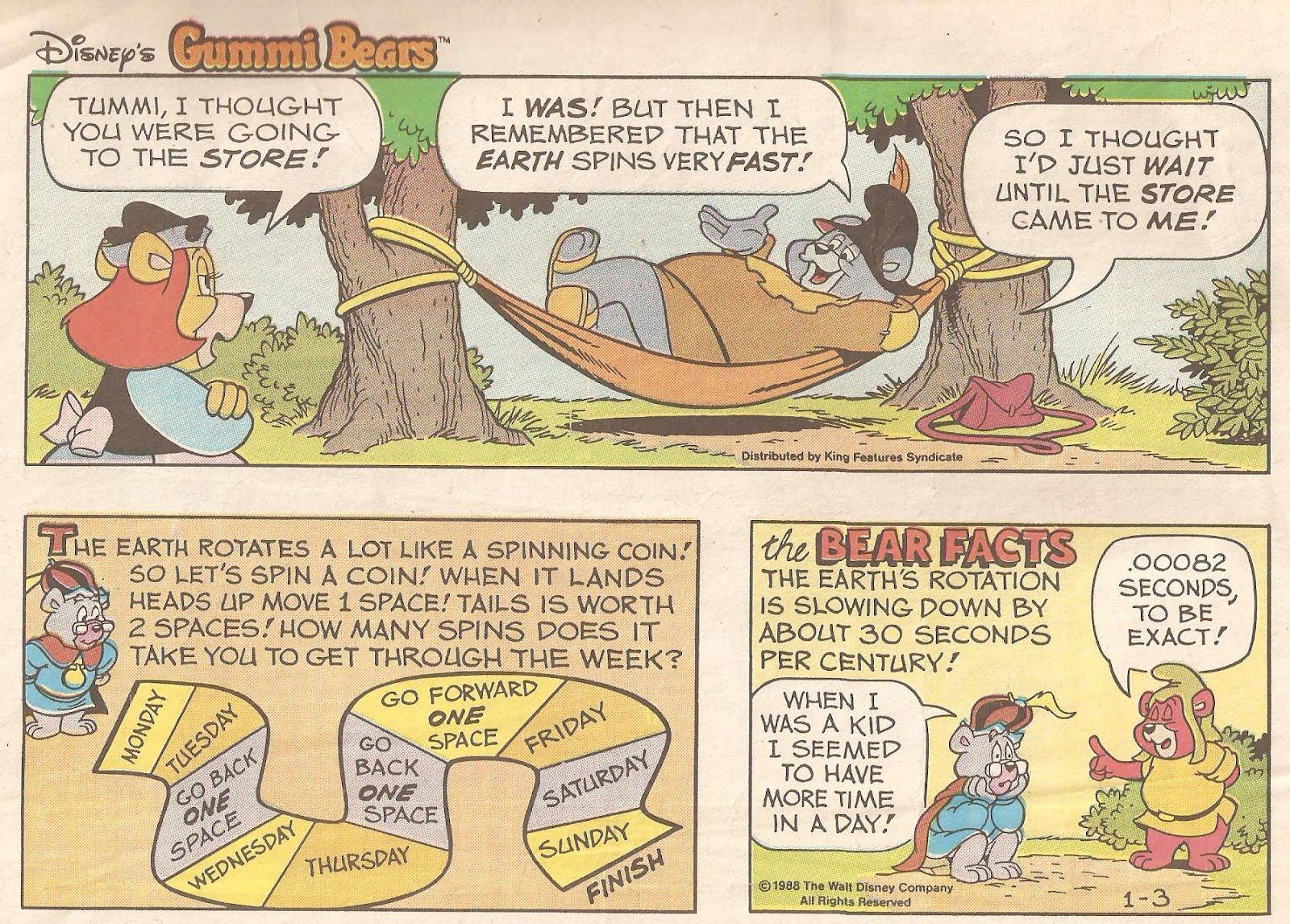 Digger bear comic strip