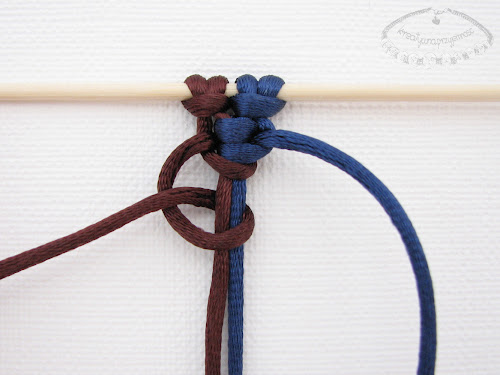 Podwójny węzeł łańcuszkowy wykonywany na 4 sznurkach - 8