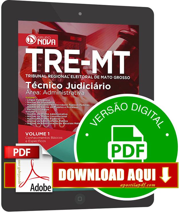 Apostila TRE MT 2015 PDF Download Técnico Judiciário