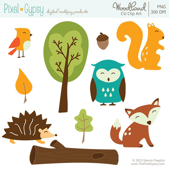 Woodland Animals Commercial Use Clip Art