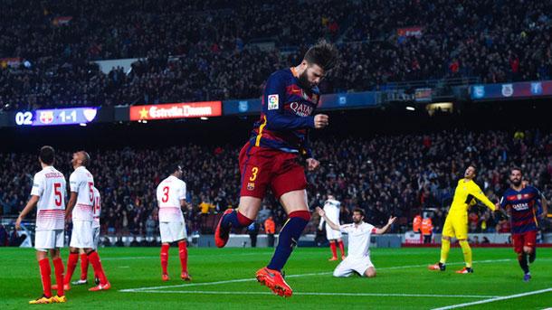 Gerard Piqué, contento por haber contribuido al triunfo culé (2-1)