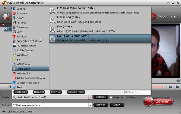 SWF Video Format